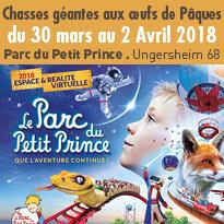 Alsace<br>Petits et grands<br>chassent<br>les œufs au Parc<br>du Petit Prince