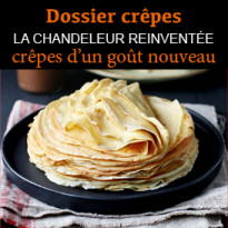 3 recettes<br>de crêpes gourmandes<br>et saines