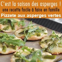 Recette facile : Pizzete aux asperges vertes