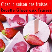 Recette de Glace aux fraises
