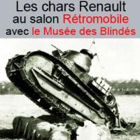Les chars Renault<br>à l'honneur<br>au salon Rétromobile