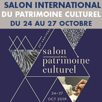 Salon<br>International<br>du Patrimoine<br>Culturel<br>du 24 au 27 octobre 2019