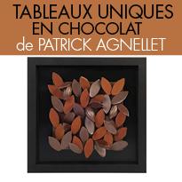 Un véritable<br>tableau à croquer<br>du chocolatier<br>Patrick Agnellet