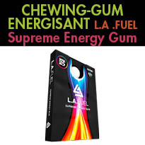 L.A.Fuel<br>le chewing-gum<br>antifatigue<br>et booster d'énergie