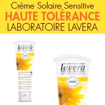 Protection solaire minérale<br>Crème Solaire Sensitive<br>Laboratoire Lavera