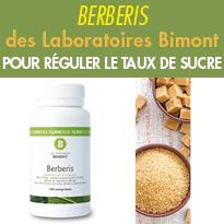 Le berbérine<br>des Laboratoires Bimont<br>régule le taux <br>de sucre dans le sang