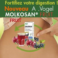 Fortifiez votre digestion<br>Nouveau<br>MOLKOSAN® FRUIT