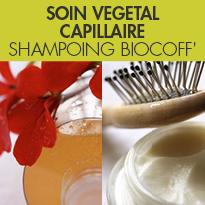 Soins capillaires naturels<br>Biocoiff'<br>soins à base de plantes