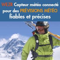 1er capteur meteo<br>connecte <br>pour des previsions<br>fiables et precises