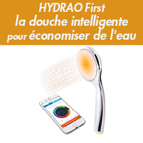 Innovation<br>HYDRAO First<br>une douche intelligente