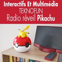TEKNOFUN<br>radio réveil Pikachu