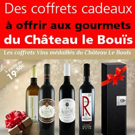 Offrez<br>un coffret<br>des vins médaillés<br>du Château<br>le Bouïs