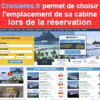 Avec Croisieres.fr<br>choisissez<br>l'emplacement<br>de votre cabine