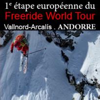 Freeride World Tour<br>à Vallnord-Arcalís<br>du 1erau 7 mars<br>Andorre