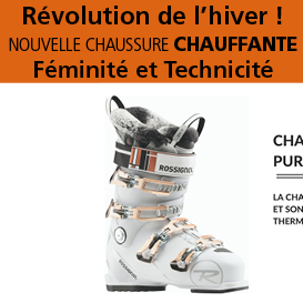 Innovation<br>Rossignol<br>chaussure de ski<br>chauffante