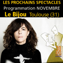 Le bijou<br>Toulouse (31)<br>le programme<br>de novembre