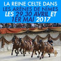 Samedi 29, 30 avril<br>et lundi 1er mai<br>Grands Jeux Romains<br>Arènes de Nîmes (30)