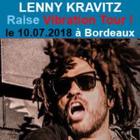 Lenny Kravitz<br>la tournée européenne<br>pour l'été 2018