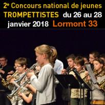 26 au 28 janvier 2018<br>Concours national<br>de jeunes trompettistes<br>Lormont 33