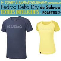 Textile innovant<br>tee-shirt<br>Pedroc Delta Dry<br>de Salewa