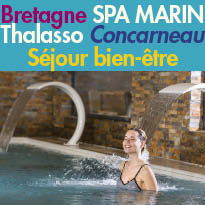 Thalasso<br>Concarneau<br>séjour bien-être<br>100% pur Breizh