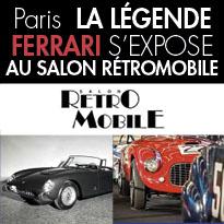 Rétromobile<br>Exposition<br>la légende Ferrari