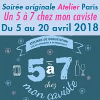Paris<br>Un 5 à 7 chez<br>mon caviste<br>Du 5 au 20 avril