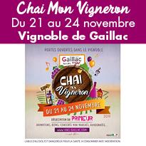 Gaillac<br>Chai Mon Vigneron<br>Du 21 au 24 novembre