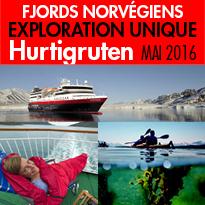 Le nouveau navire<br>de Hurtigruten<br>sillonnera les fjords<br>et la côte norvégienne<br>à partir de mai 2016