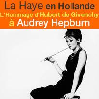 Pays-Bas<br>La Haye<br>Hubert de Givenchy rend<br>hommage<br>à Audrey Hepburn