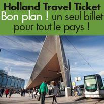 Pays Bas<br>Tous les trains,<br>trams, métros, bus et bacs<br>avec un seul pass !