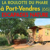 Port vendres (66)<br>La Roulotte du phare<br>un petit coin de paradis