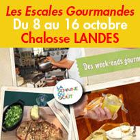 Landes(40)<br>Chalosse<br>Escales Gourmandes<br>du 8 au 16 octobre