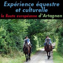 Découvrir<br>autrement la France<br>la Route<br>européenne<br>d'Artagnan